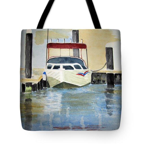 Lone Boat Tote Bag