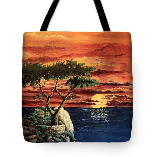 Lone Cypress Tote Bag