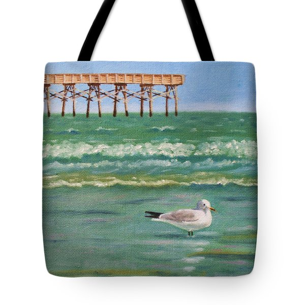 Lone Gull A-piers Tote Bag