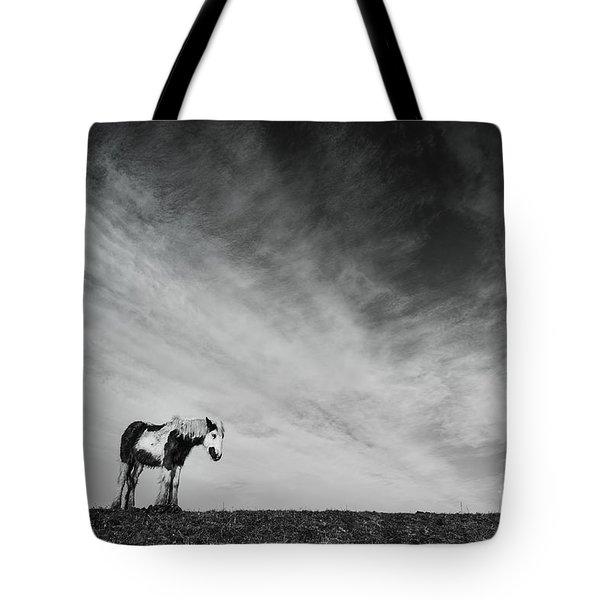 Lone Horse Tote Bag by Julian Eales