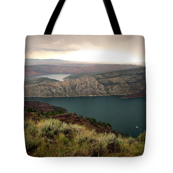 Tote Bag featuring the photograph Lone Houseboat by Katie Wing Vigil