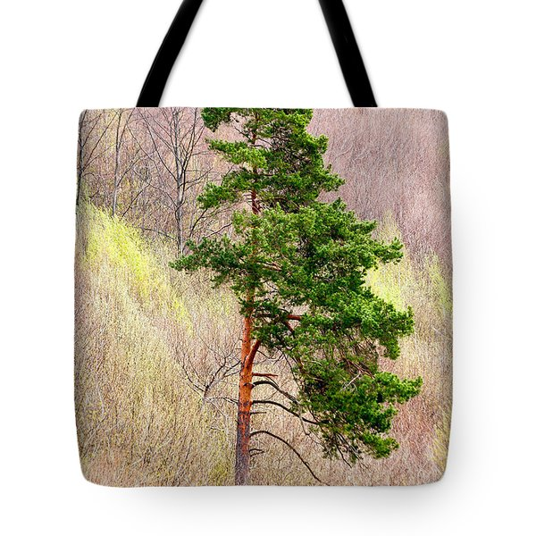 Tote Bag featuring the photograph Lone Pine by Les Palenik