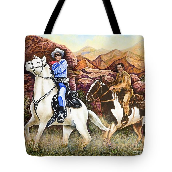 Lone Ranger And Tonto Ride Again Tote Bag