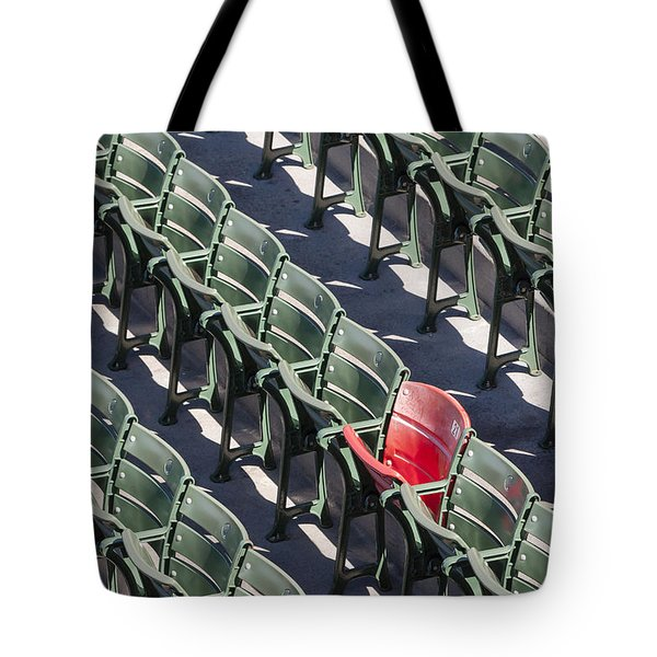 Lone Red Number 21 Fenway Park Tote Bag