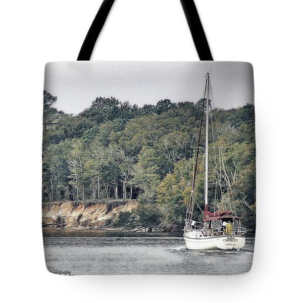 Lone Sailor In Snow's Cut Tote Bag