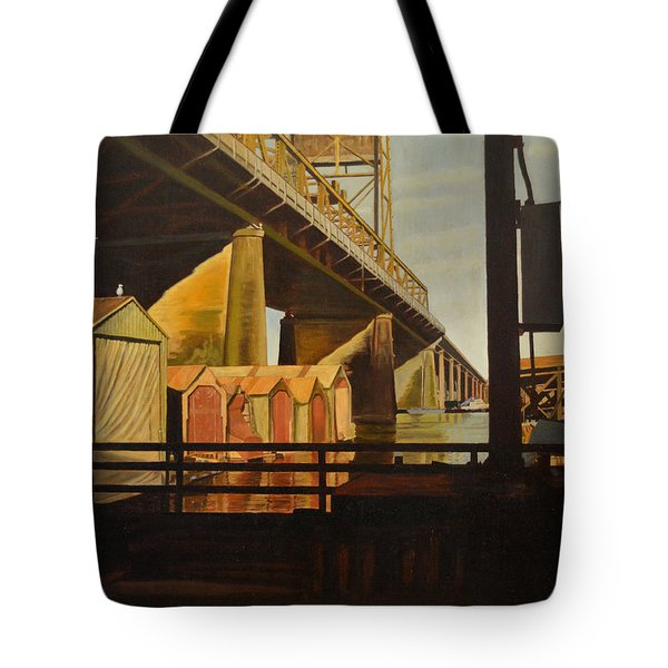 Lone Seagull Tote Bag by Thu Nguyen