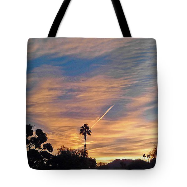 Lone Sentry Morning Sky Tote Bag