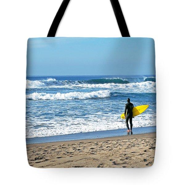 Lone Surfer Tote Bag