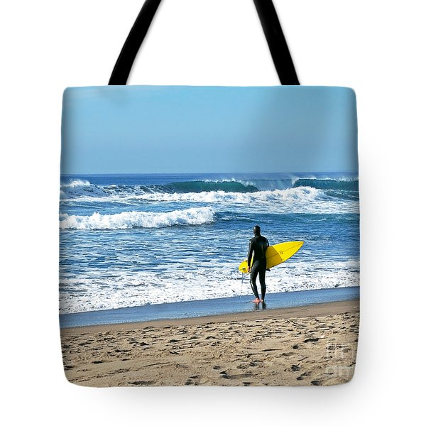 Lone Surfer Tote Bag