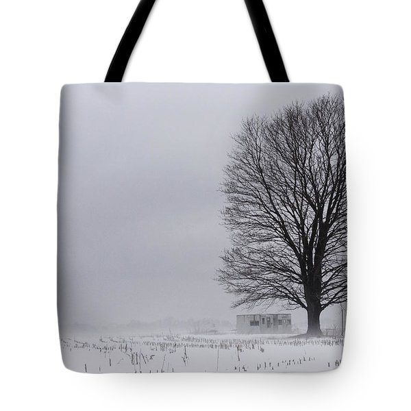 Lone Tree In The Fog Tote Bag