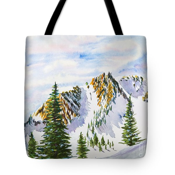 Lone Tree In The Morning Tote Bag