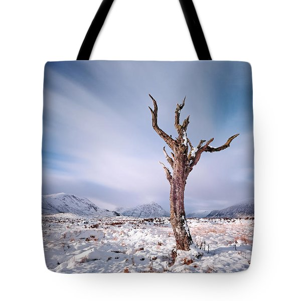 Lone Tree In The Snow Tote Bag