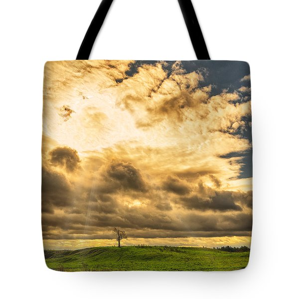 Lone Tree On A Knoll Tote Bag