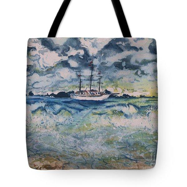Lone Vessel  Tote Bag