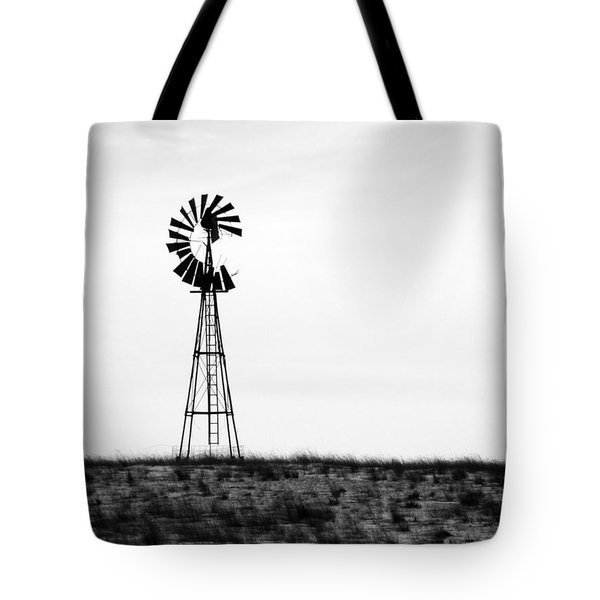 Tote Bag featuring the photograph Lone Windmill by Cathy Anderson