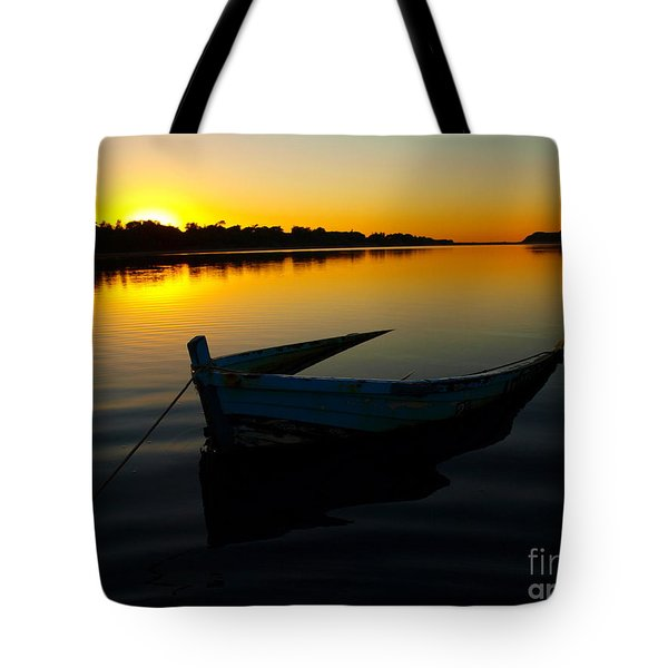 Tote Bag featuring the photograph Lonely At Sunrise by Trena Mara