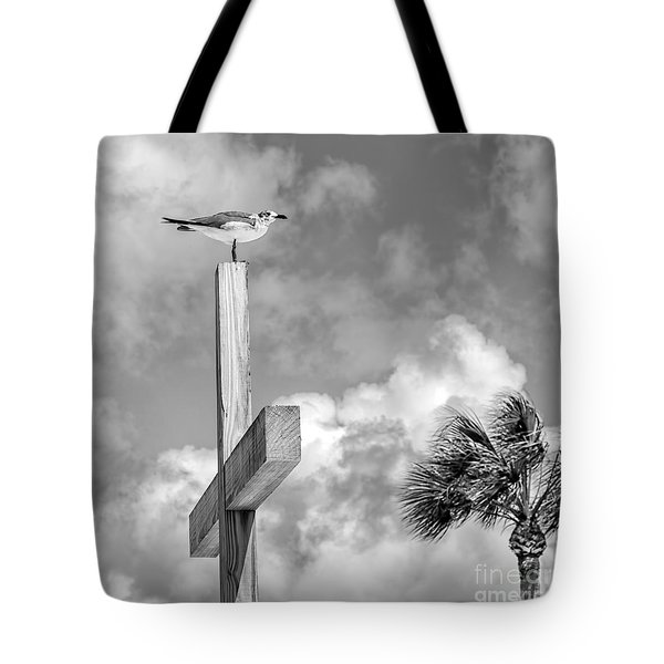 Lonely At The Top Tote Bag by Lynn Palmer