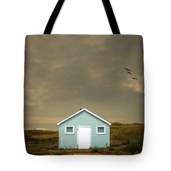 Lonely Beach Shack Tote Bag by Edward Fielding