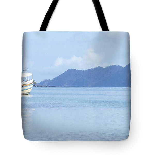 Tote Bag featuring the photograph Lonely Boat by Andrea Anderegg