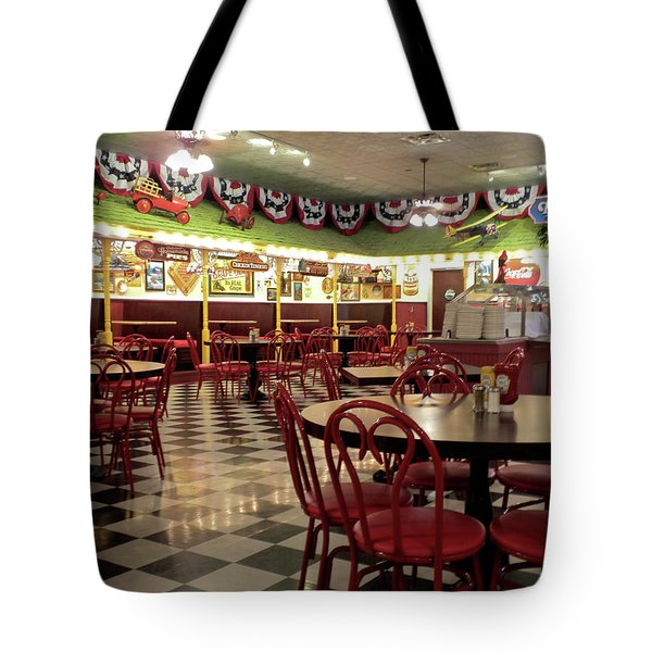 Lonely Cafe Tote Bag by Thomas Woolworth