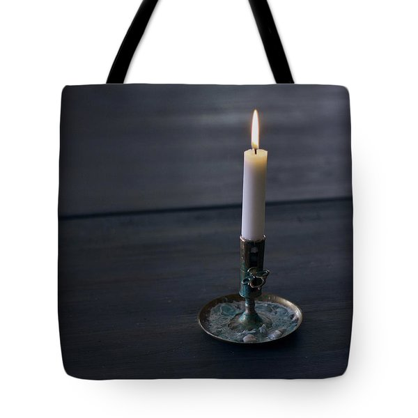 Lonely Candle Tote Bag