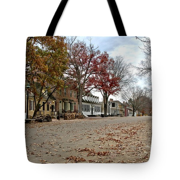 Lonely Colonial Williamsburg Tote Bag