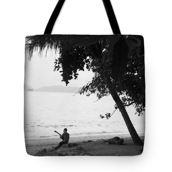 Lonely Guitarist Tote Bag by Kaleidoscopik Photography