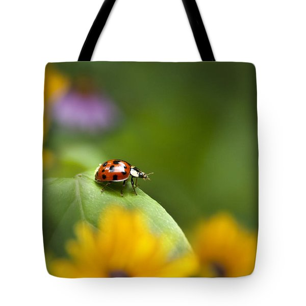 Lonely Ladybug Tote Bag by Christina Rollo