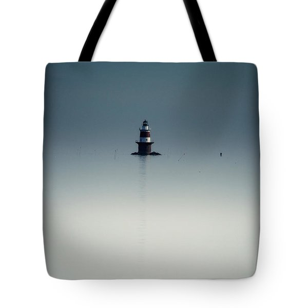 Lonely Lighthouse  Tote Bag by Karol Livote