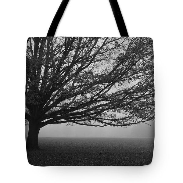 Tote Bag featuring the photograph Lonely Low Tree by Maj Seda