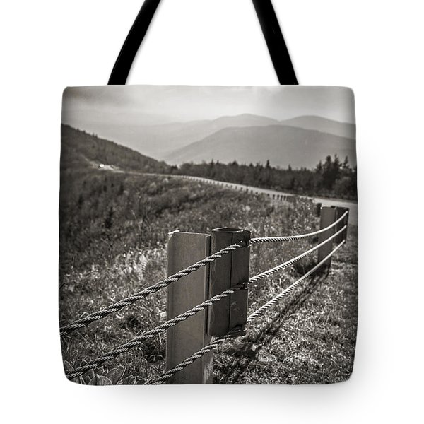Lonely Mountain Road Tote Bag by Edward Fielding