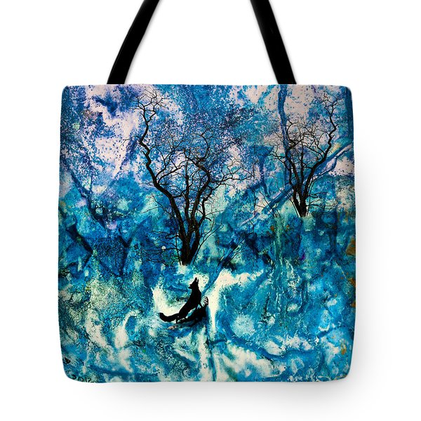 Tote Bag featuring the painting Lonely Night by Ron Richard Baviello