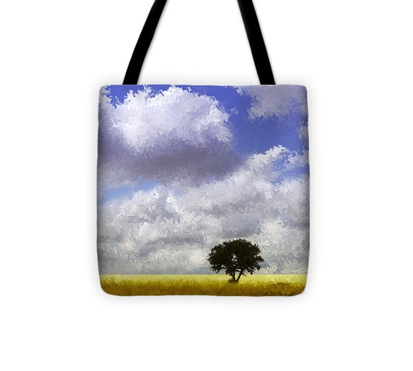 Lonely On The Prairie Tote Bag by Ann Powell