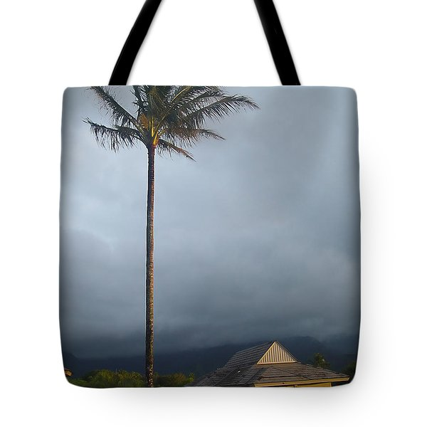 Lonely Palm Tote Bag by John Bushnell