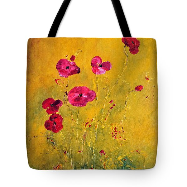 Lonely Poppies Tote Bag by Teresa Wegrzyn