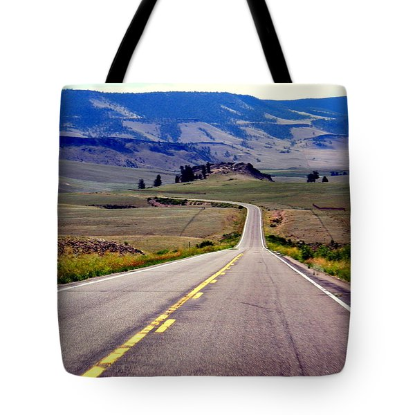 Tote Bag featuring the photograph Lonely Road by Antonia Citrino