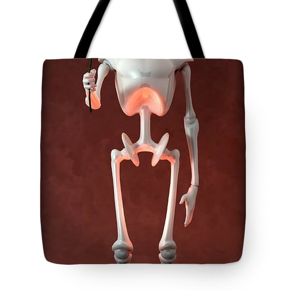 Tote Bag featuring the digital art Lonely Robot... by Tim Fillingim