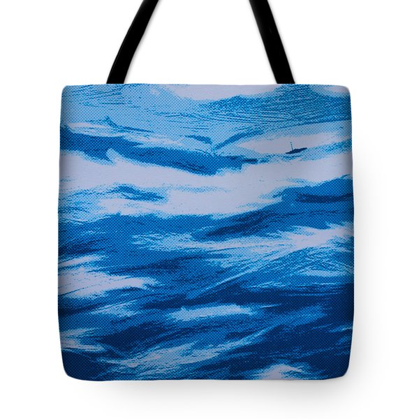 Lonely Sailboat Heading Home Tote Bag by Robert Margetts