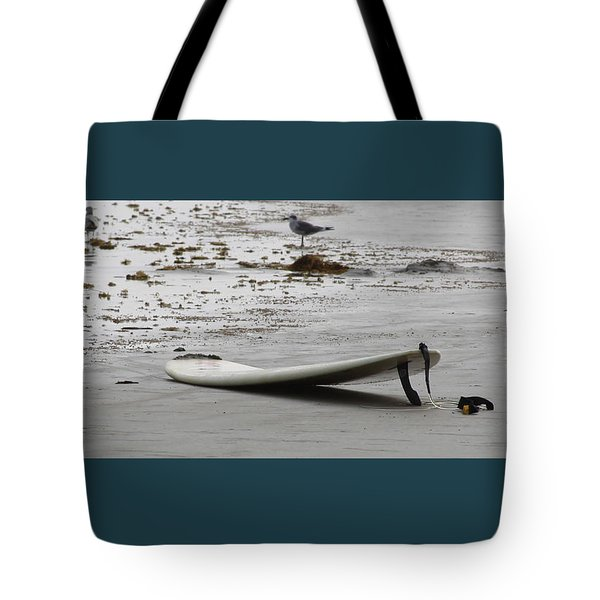 Lonely Surfboard Lg Tote Bag