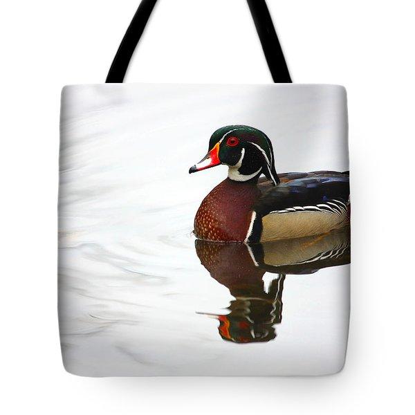 Lonely Wood Duck Tote Bag by Karol Livote