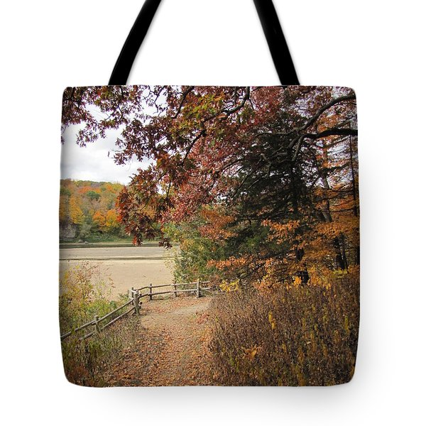 Lonesome Path Tote Bag by Minding My  Visions by Adri and Ray
