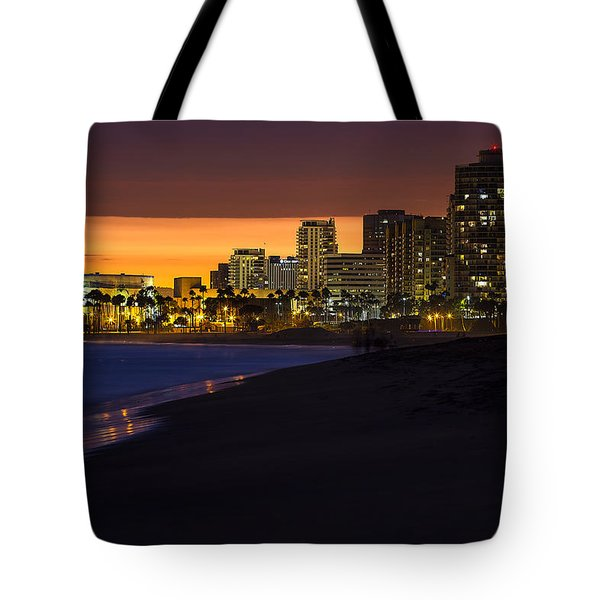Long Beach Comes Alive At Dusk By Denise Dube Tote Bag