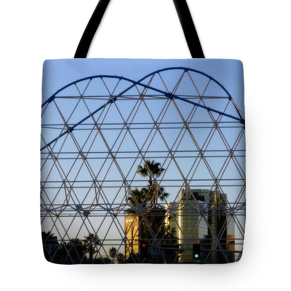 Tote Bag featuring the photograph Long Beach Lines by Clayton Bruster