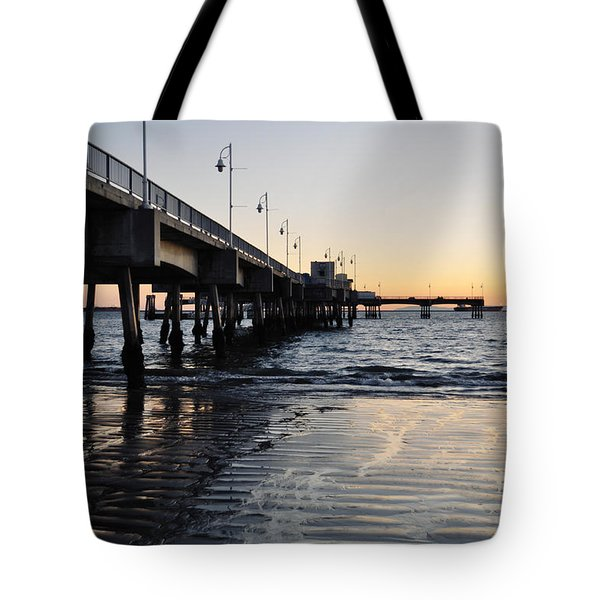 Tote Bag featuring the photograph Long Beach Pier by Kyle Hanson