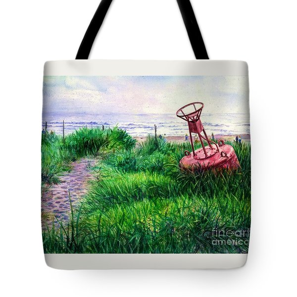 Long Beached Buoy Tote Bag