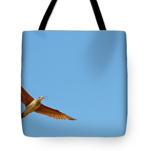 Long-billed Curlew In Flight Tote Bag