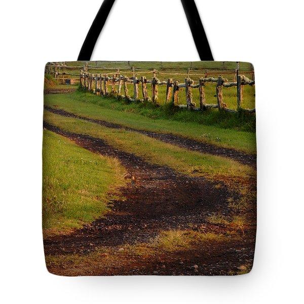 Long Dirt Road Tote Bag