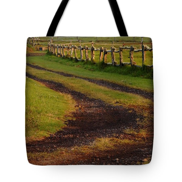 Long Dirt Road Tote Bag