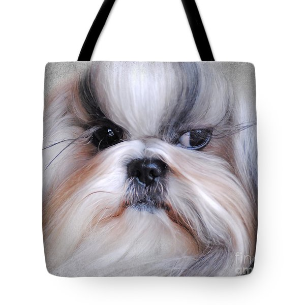 Long Haired Shih Tzu Tote Bag