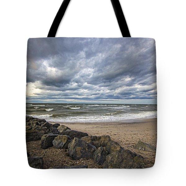 Long Island Sound Whitecaps Tote Bag